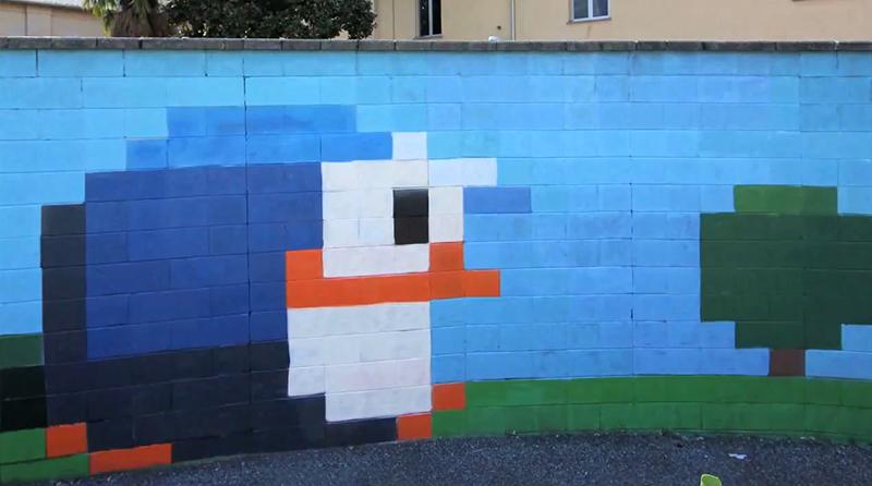 Penguinon8bitwall